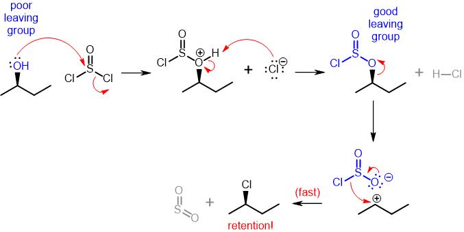 SOCl2 Mechanism SNi