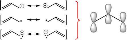 allyl system pi molecular orbitals