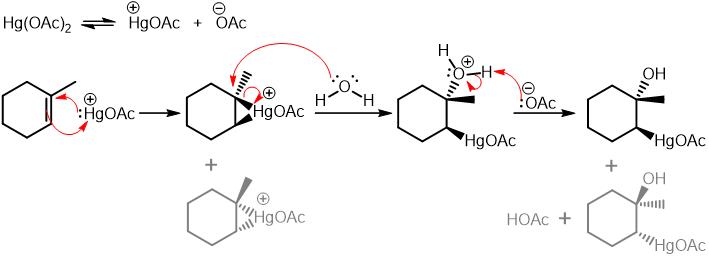 oxymercuration demercuration mechanism