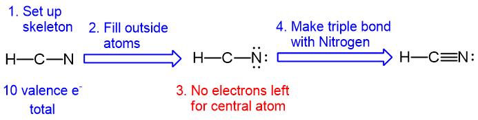 HCN lewis structure