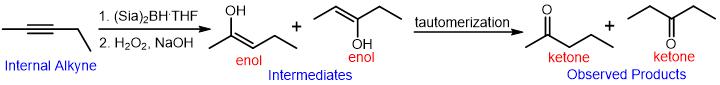 hydroboration oxidation of alkynes 02