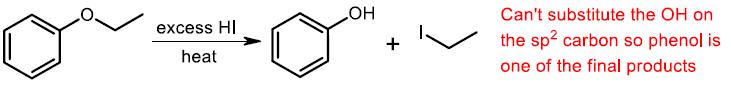 acidic cleavage of phenyl ether