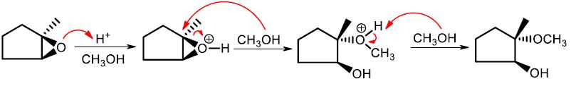 acid catalyzed ring opening of epoxides