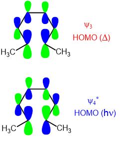 electrocyclic reaction molecular orbitals 01