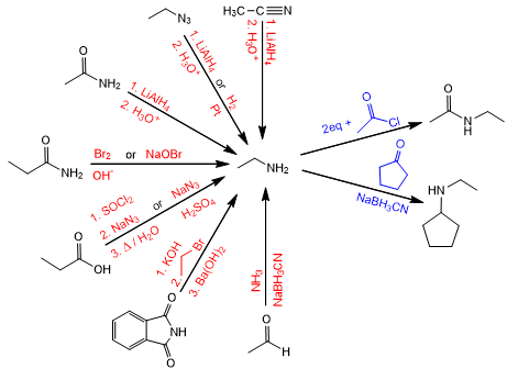 synthesis of amines